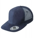 Czapka MB6509 6 Panel Flat Peak Cap - 6509_navy_MB Navy