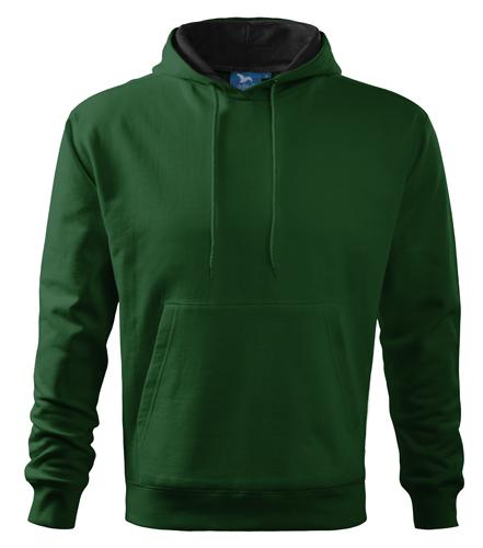 Bluza dresowa A 405 HOODED SWEATER 320 - 405_06 A - Kolor: Zieleń butelkowa