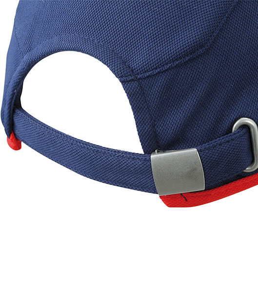 Czapka MB6544 Running Cap 4 Panel - 6544_detale_MB - Kolor: Navy / Red