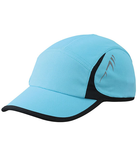 Czapka MB6544 Running Cap 4 Panel - 6544_turquoise_black_MB - Kolor: Turquoise / Black