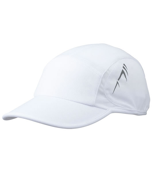 Czapka MB6544 Running Cap 4 Panel - 6544_white_white_MB - Kolor: White / White