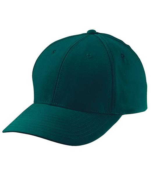 Czapka MB6135 6 Panel Polyester Peach Cap - 6135_dark_green_MB - Kolor: Dark green