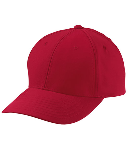 Czapka MB6135 6 Panel Polyester Peach Cap - 6135_red_MB - Kolor: Red