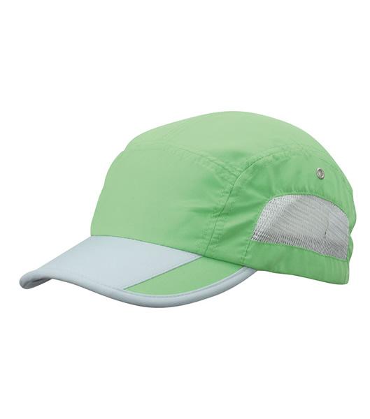 Czapka MB6522 Sportive Cap - 6522_limegreen_lightgrey_MB - Kolor: Lime green / Light grey