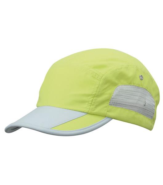 Czapka MB6522 Sportive Cap - 6522_sunnylime_lightgrey_MB - Kolor: Sunny lime / Light grey