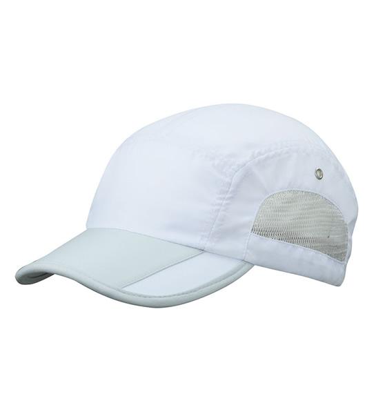 Czapka MB6522 Sportive Cap - 6522_white_lightgrey_MB - Kolor: White / Light grey