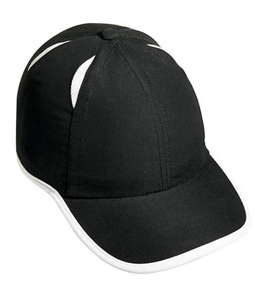 Czapka MB6156 Micro-Edge Sports Cap - 6156_black_lightgrey_MB - Kolor: Black / Light grey