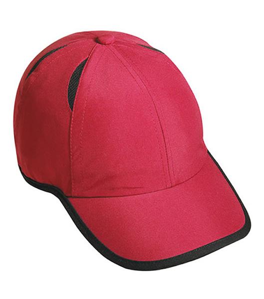 Czapka MB6156 Micro-Edge Sports Cap - 6156_burgundy_black_MB - Kolor: Burgundy / Black