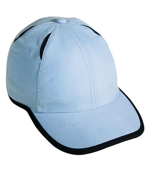 Czapka MB6156 Micro-Edge Sports Cap - 6156_lightblue_navy_MB - Kolor: Light blue / Navy