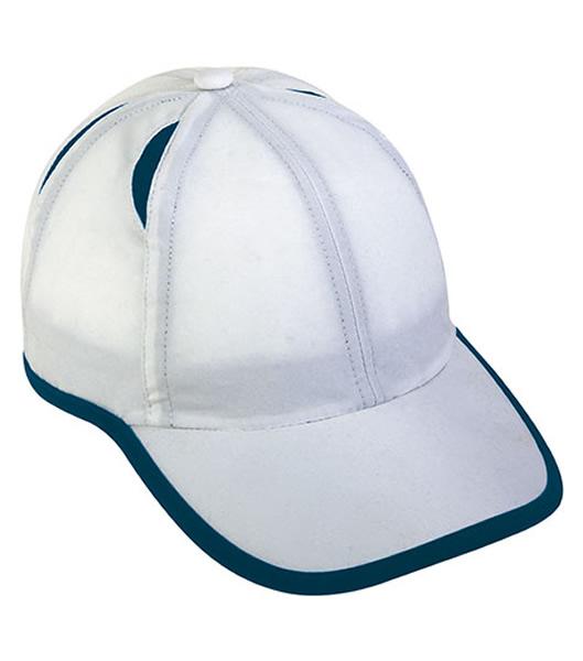 Czapka MB6156 Micro-Edge Sports Cap - 6156_white_navy_MB - Kolor: White / Navy