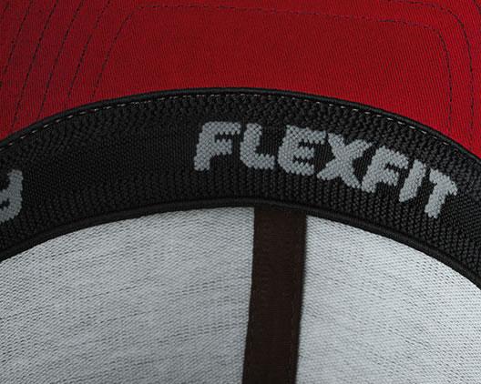 Czapka MB6183 High Performance Flexfit Cap - 6183_detale_MB - Kolor: Red