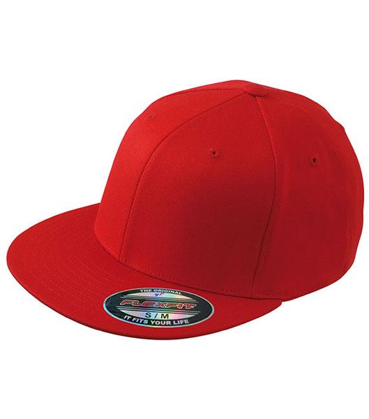 Czapka MB 6184 Flexfit Flatpeak Cap - 6184_red_MB - Kolor: Red