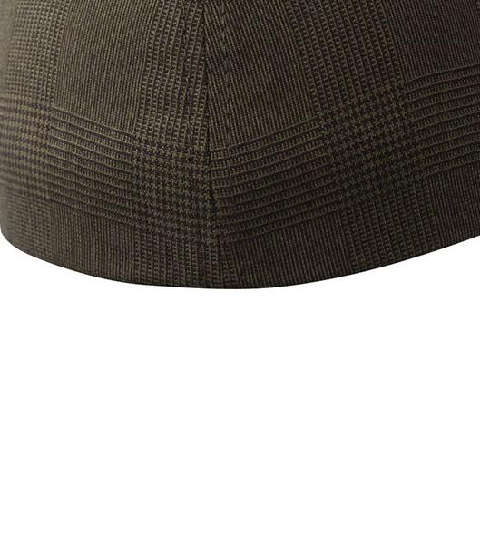 Czapka MB 6185 Glencheck Cap - 6185_detale_MB - Kolor: Dark brown