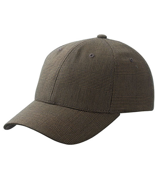 Czapka MB 6185 Glencheck Cap - 6185_dark_brown_MB - Kolor: Dark brown