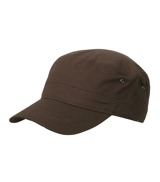 Czapka MB095 MILITARY CAP - 095_dark_brown_MB - Kolor: Dark brown