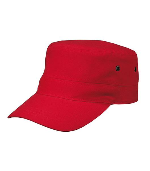Czapka MB095 MILITARY CAP - 095_red_MB - Kolor: Red