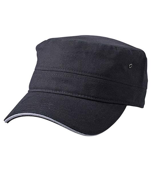 Czapka MB6555 Military Sandwich Cap - 6555_black_darkgrey_MB - Kolor: Black / Dark grey