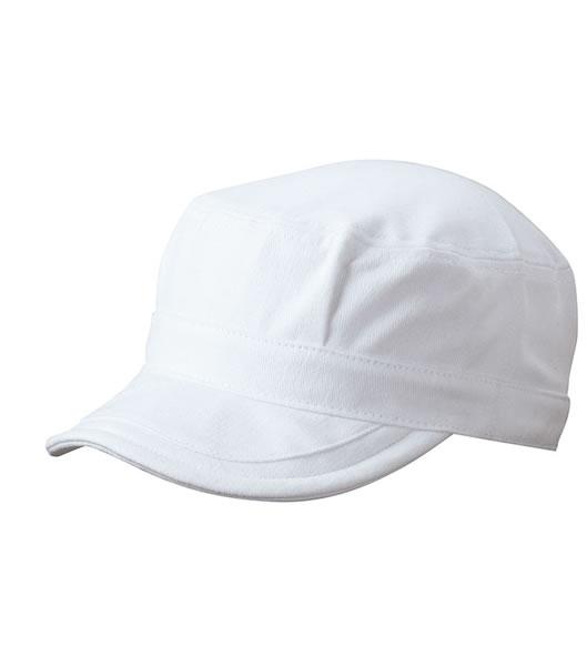 Czapka MB6520 Soft Peak Army Cap - 6520_white_MB - Kolor: White