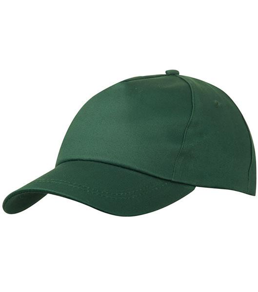 Czapka MB001 5 Panel Promo Cap lightly laminated - 001_dark_green_MB - Kolor: Dark green