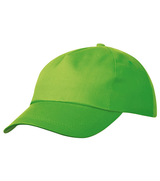 Czapka MB001 5 Panel Promo Cap lightly laminated - 001_lime_green_MB - Kolor: Lime green