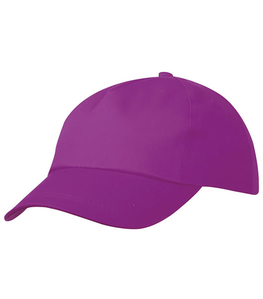 Czapka MB001 5 Panel Promo Cap lightly laminated - 001_purple_MB - Kolor: Purple