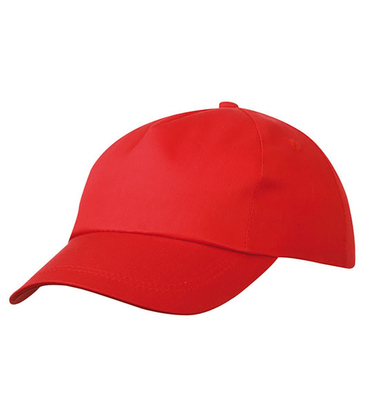Czapka MB001 5 Panel Promo Cap lightly laminated - 001_signal_red_MB - Kolor: Signal red
