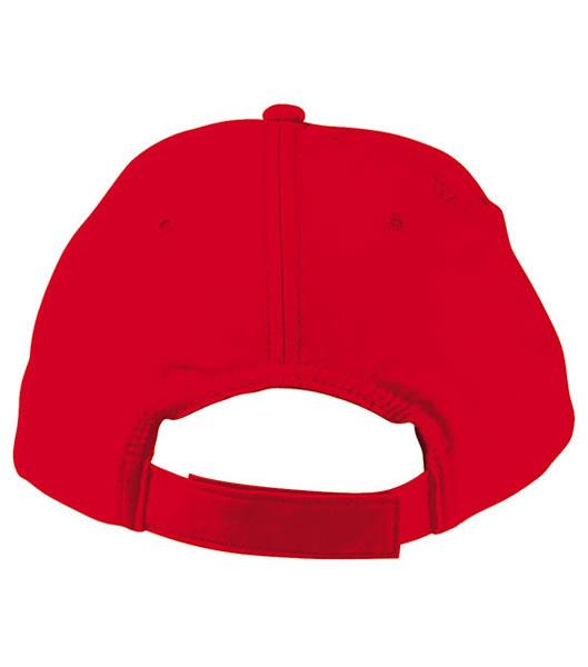 Czapka MB001 5 Panel Promo Cap lightly laminated - 001_detale_MB - Kolor: Signal red