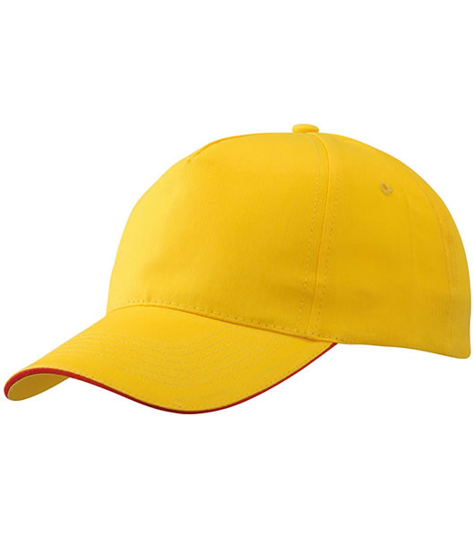 Czapka MB6552 Promo Sandwich Cap - 6552_goldyellow_red_MB - Kolor: Gold yellow / Red
