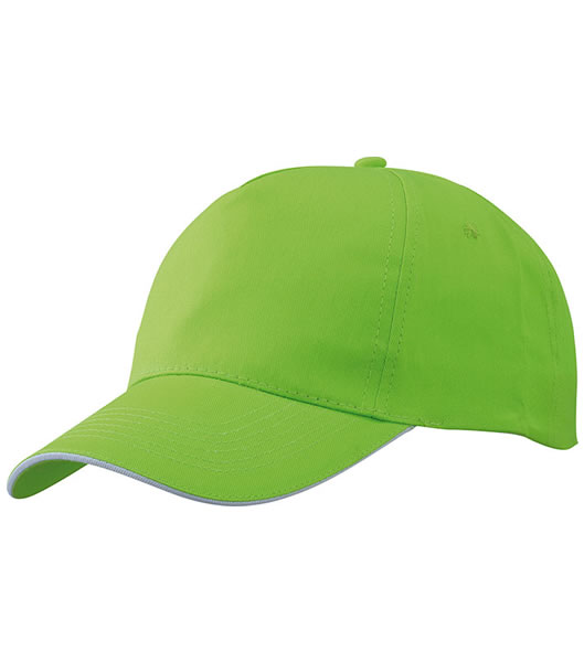Czapka MB6552 Promo Sandwich Cap - 6552_limegreen_white_MB - Kolor: Lime green / White