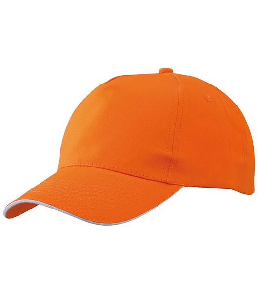 Czapka MB6552 Promo Sandwich Cap - 6552_orange_white_MB - Kolor: Orange / White