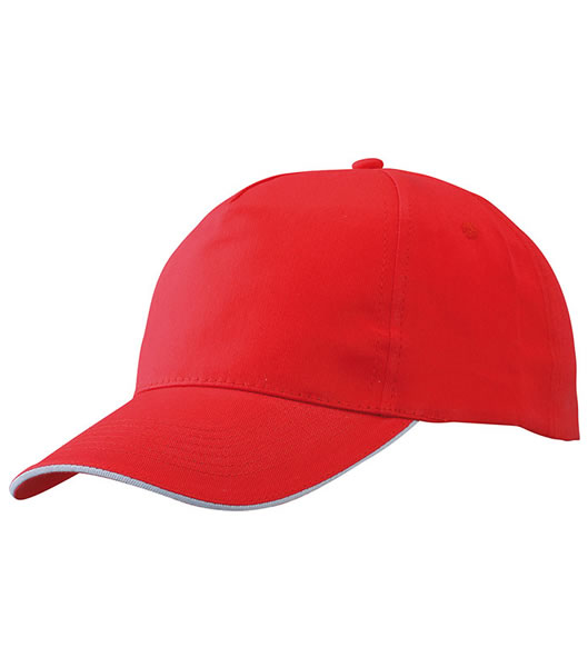 Czapka MB6552 Promo Sandwich Cap - 6552_red_white_MB - Kolor: Red / White