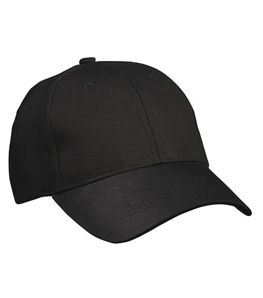 Czapka MB091 Panel Cap heavy Cotton - 091_black_MB - Kolor: Black