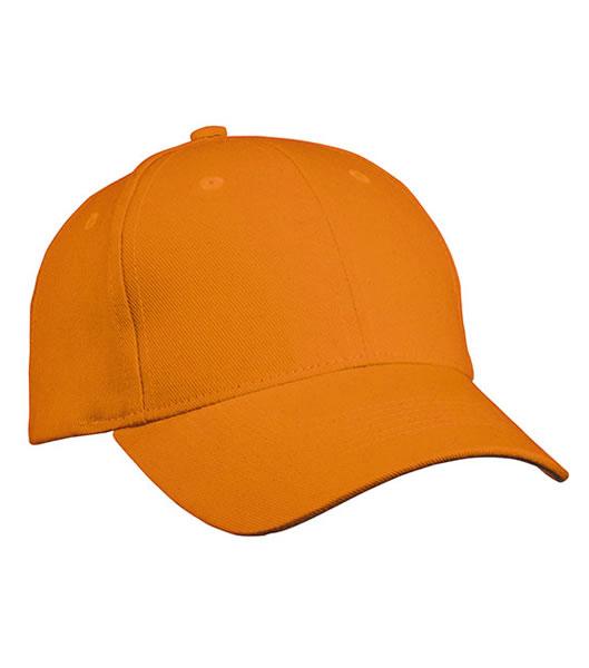 Czapka MB091 Panel Cap heavy Cotton - 091_orange_MB - Kolor: Orange