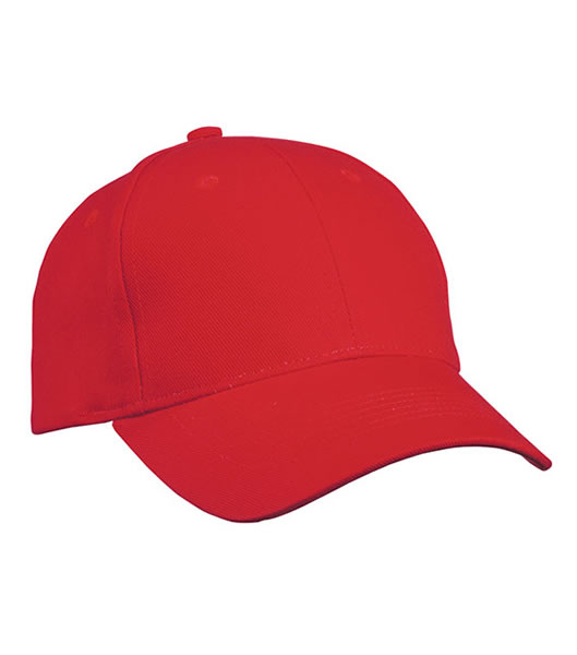 Czapka MB091 Panel Cap heavy Cotton - 091_red_MB - Kolor: Red