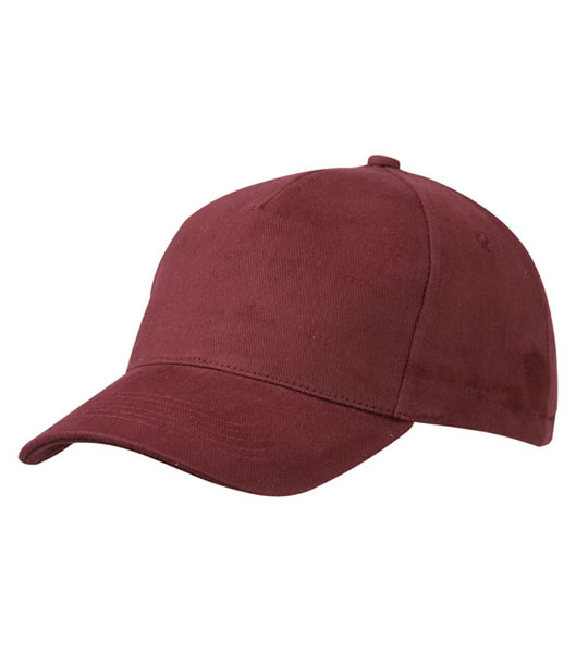 Czapka MB092 5 Panel Cap heavy Cotton  - 092_burgundy_MB - Kolor: Burgundy