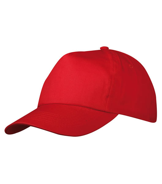 Czapka MB002 5 Panel Promo Cap laminated - 002_signal_red_MB - Kolor: Signal red