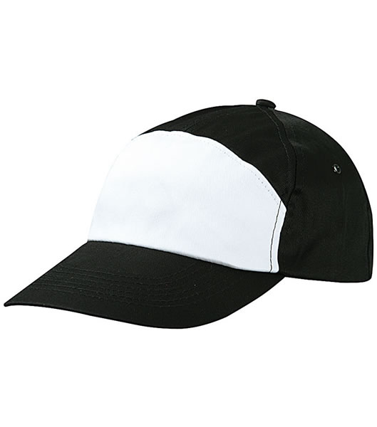 Czapka MB005 7 Panel Promo Cap - 005_black_white_MB - Kolor: Black / White