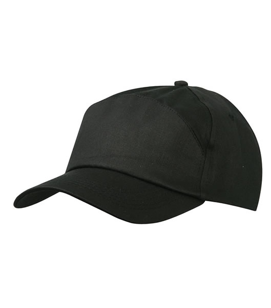 Czapka MB005 7 Panel Promo Cap - 005_black_MB - Kolor: Black