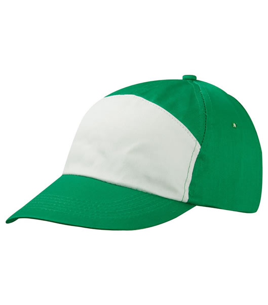 Czapka MB005 7 Panel Promo Cap - 005_green_white_MB - Kolor: Green / White