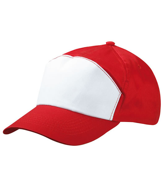 Czapka MB005 7 Panel Promo Cap - 005_red_white_MB - Kolor: Red / White