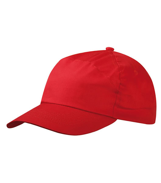 Czapka MB005 7 Panel Promo Cap - 005_red_MB - Kolor: Red