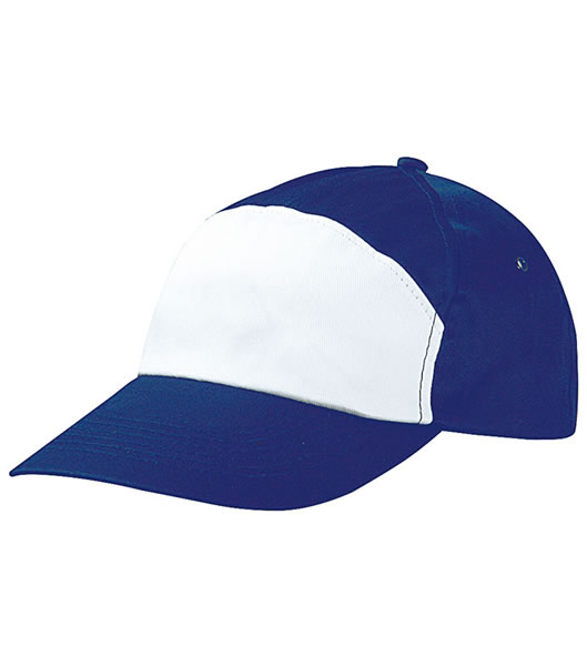Czapka MB005 7 Panel Promo Cap - 005_royal_white_MB - Kolor: Royal / White