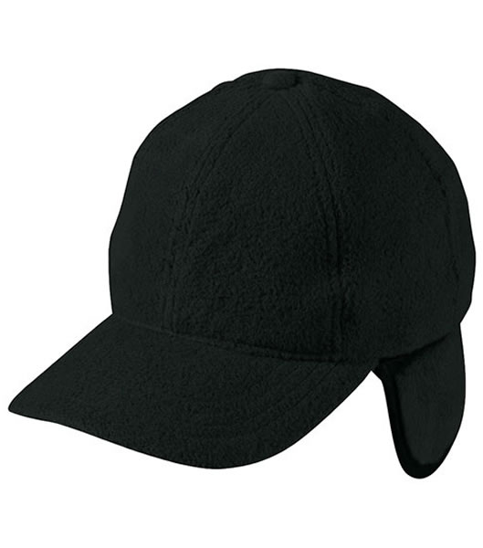 Czapka MB7510 6 Panel Fleece Cap with Earflaps - 7510_black_MB - Kolor: Black