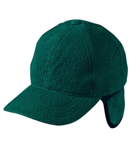 Czapka MB7510 6 Panel Fleece Cap with Earflaps - 7510_dark_green_MB - Kolor: Dark green