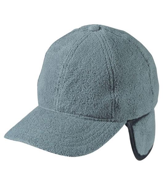 Czapka MB7510 6 Panel Fleece Cap with Earflaps - 7510_grey_MB - Kolor: Grey
