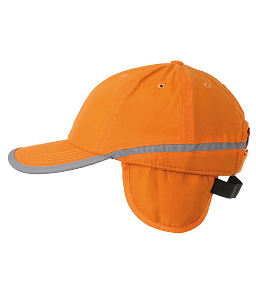 Czapka MB7511 Arctic Cap with Earflaps - 7511_poporange_MB - Kolor: Pop orange