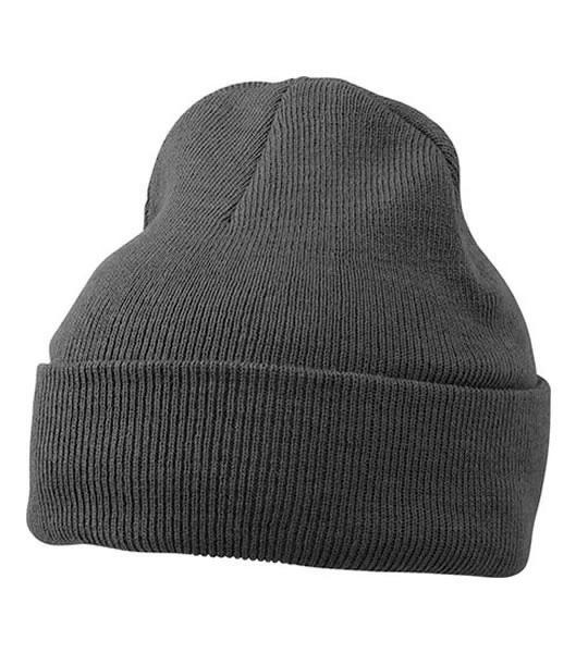 Czapka MB7500 Knitted Cap - 7500_dark_greymelange_MB - Kolor: Dark grey melange