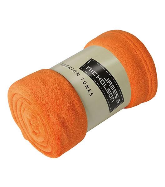 Koc JN951 Microfibre Fleece Blanket - 951_orange_JN - Kolor: Orange