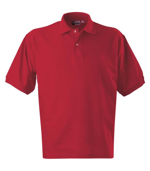 Koszulki Polo US 3177F95 Boston Polo Basic - 3177F95_czerwony_US - Kolor: Czerwony