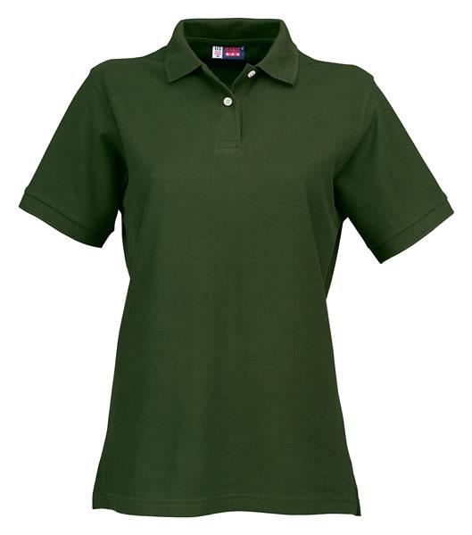 Koszulki Polo Ladies US 3108609 Boston Polo Damskie - 3108609_zieleń_butelkowa_US - Kolor: Zieleń butelkowa